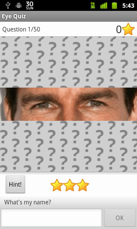 Hollywood Eye Quiz - screenshot