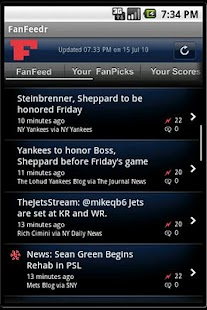FanFeedr: Personal sports news - screenshot thumbnail