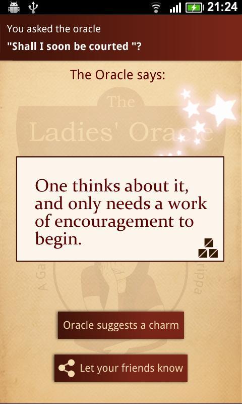 The Ladies' Oracle- screenshot