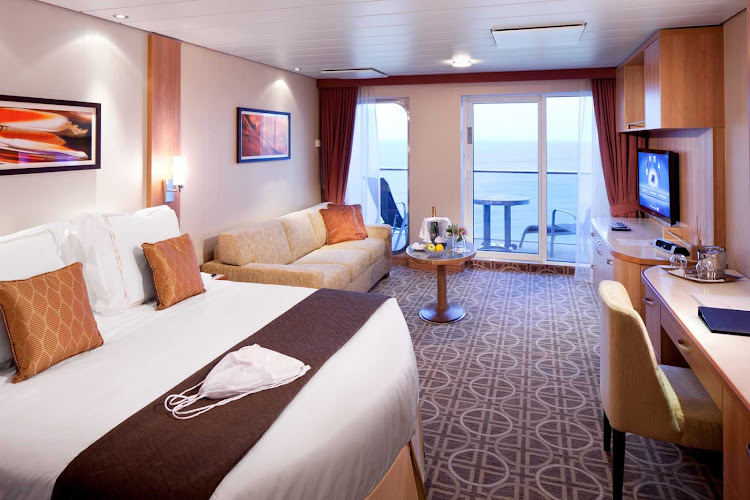 Celebrity Reflection's sophisticated Aqua Class suites have some of the best views onboard.
