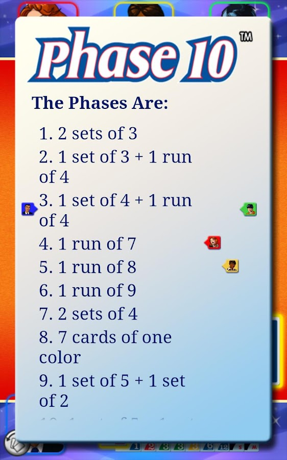 Phase 10 Free - screenshot