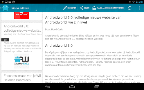 AW Reader: news & apps [Dutch]- screenshot thumbnail