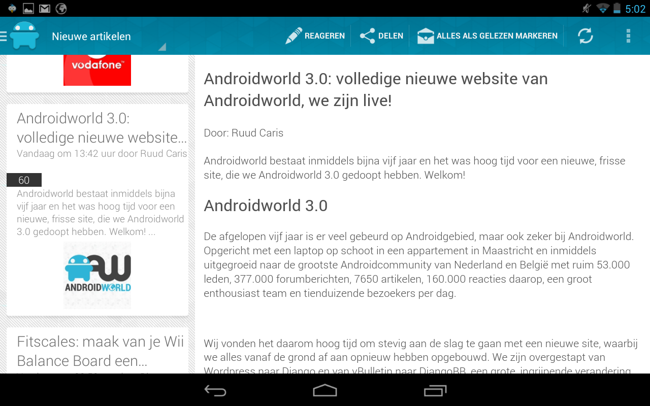 Androidworld Reader - screenshot