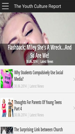The Youth Culture Report- screenshot