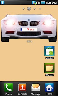 BMW M3 battery widget - screenshot thumbnail