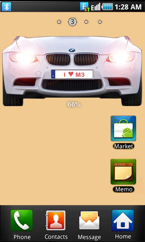 BMW M3 battery widget - screenshot