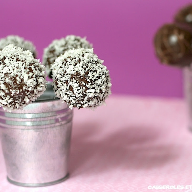 Chocolate and Coconut Pop Cakes