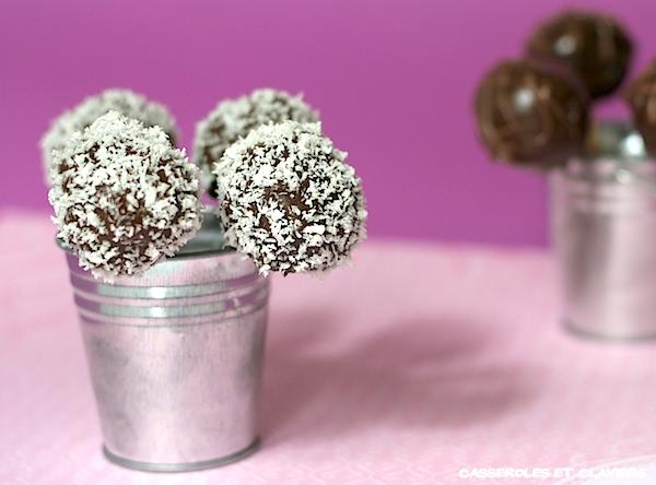 Chocolate and Coconut Pop Cakes Recipe