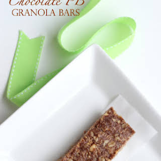 4 Ingredient No Bake Chocolate Peanut Butter Granola Bars.