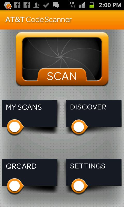 AT&T Code Scanner: QR,UPC & DM - screenshot