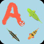 Worm alphabet for dyslexia