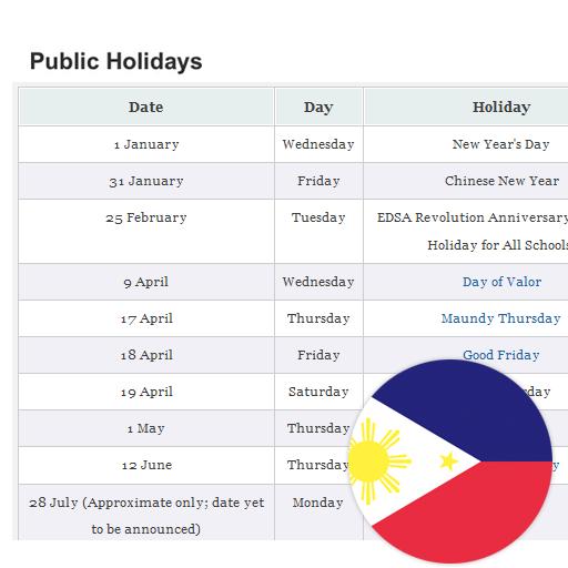 Philippines Public Holidays LOGO-APP點子