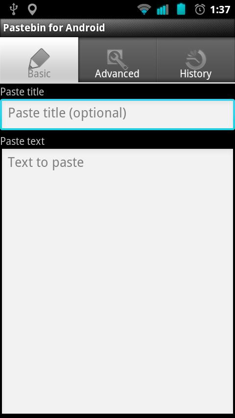 Pastebin for Android - screenshot