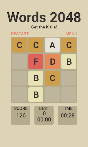 Words 2048 Puzzle