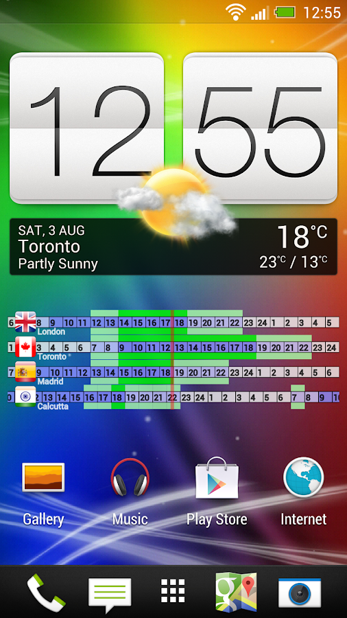 World Clock Widget- screenshot