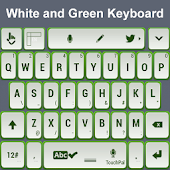 White and Green Keyboard