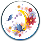 Butterfly Moon Clock