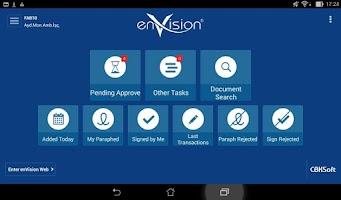 Screenshot of enVision Mobile