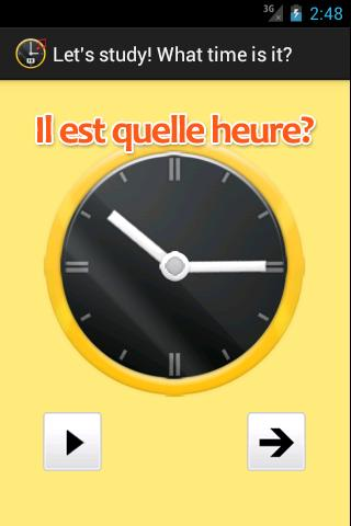 What time is it in French.