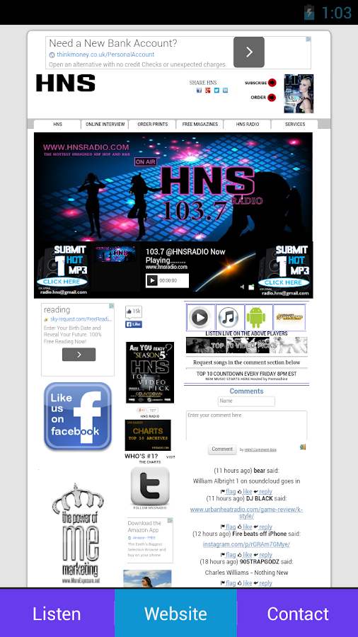 HNS RADIO- screenshot