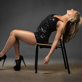 Flashy Dancer by Jeff Dugan - People Fashion ( studio, pose, sexy, blonde, fashion )