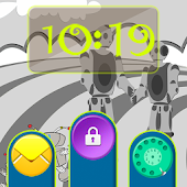 Robots Planet Go Locker Theme APK for Bluestacks