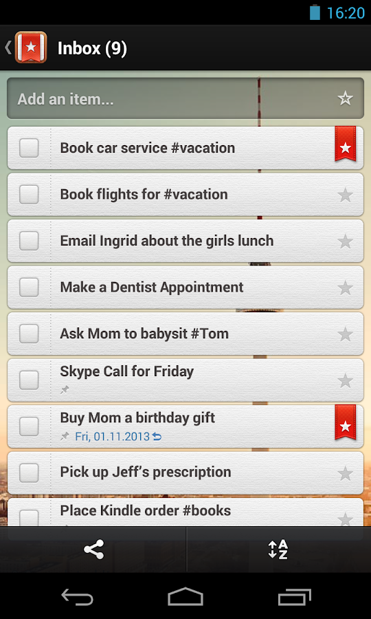 Wunderlist - To-do & Task List - screenshot