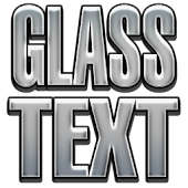 Glossy Text Go launcher theme