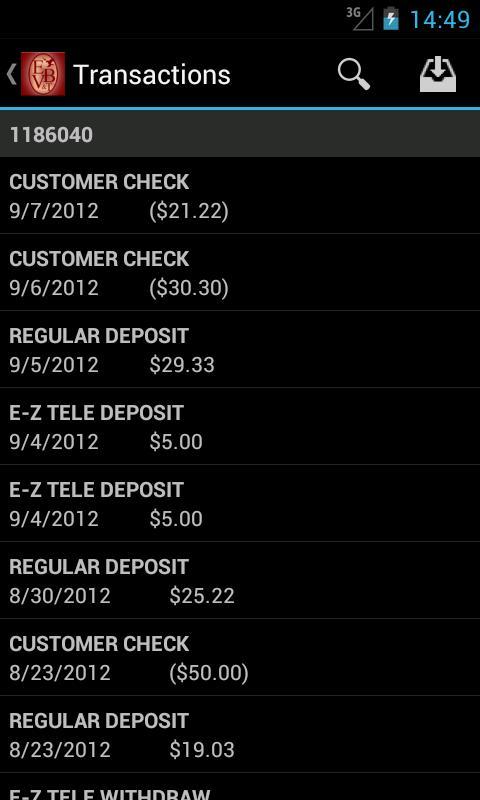 Elkhorn Valley Bank - screenshot