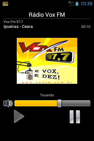 Rádio Vox FM 97,7- screenshot