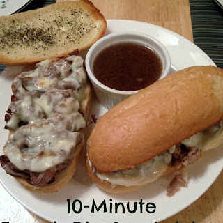10 Minute French Dip Sandwiches.