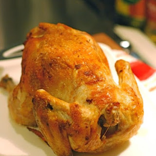 Roast Chicken Stuffed with Corn & Parsley
