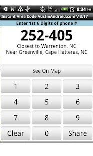 Instant Area Code- screenshot thumbnail