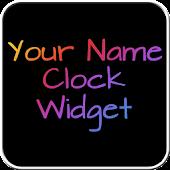 Your Name Clock Widget