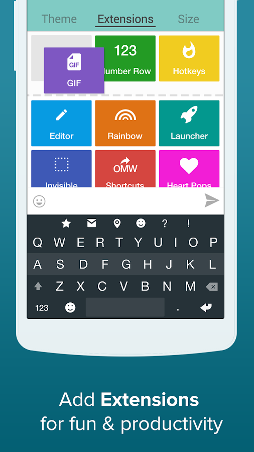 Fleksy + GIF Keyboard - screenshot
