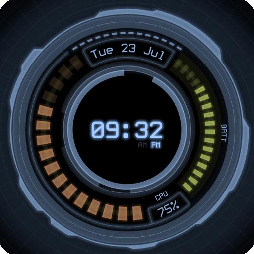 AHL Sci-Fi System Clock (Pro) 個人化 App LOGO-APP試玩