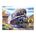 Steam locomotive wallpaper logo