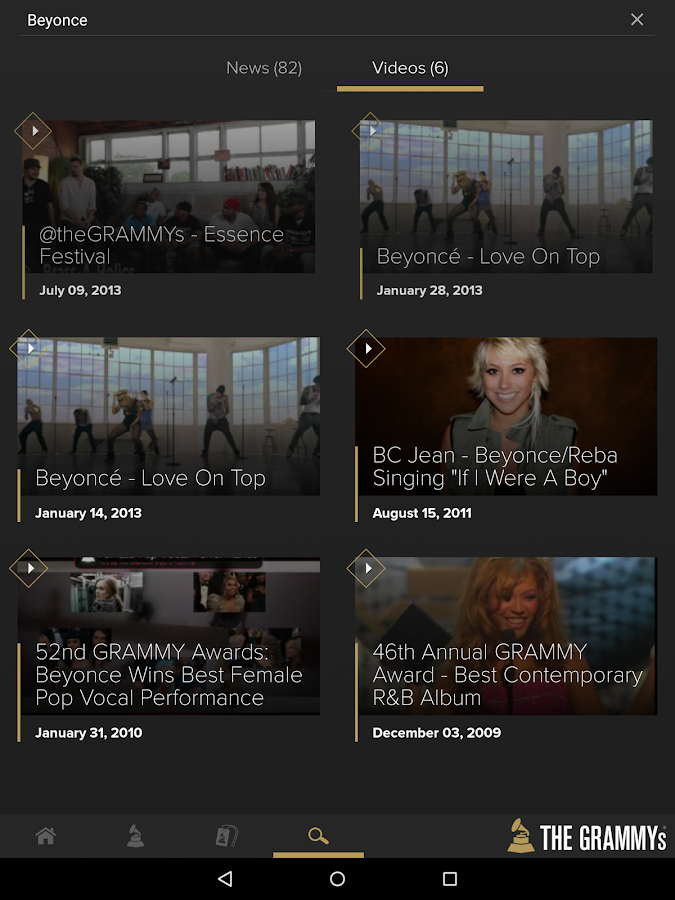 GRAMMYs - screenshot