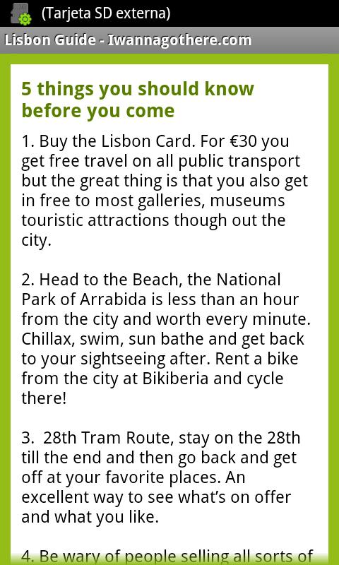 Lisbon Travel Guide- screenshot