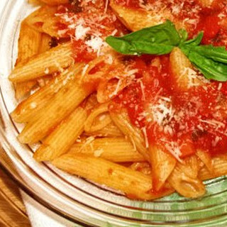 Classic Penne with Tomato-Basil Sauce.