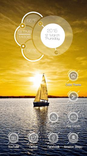日出帆船遊艇主題