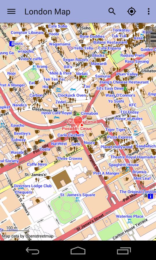 Londyn Offline Plan Miasta - screenshot