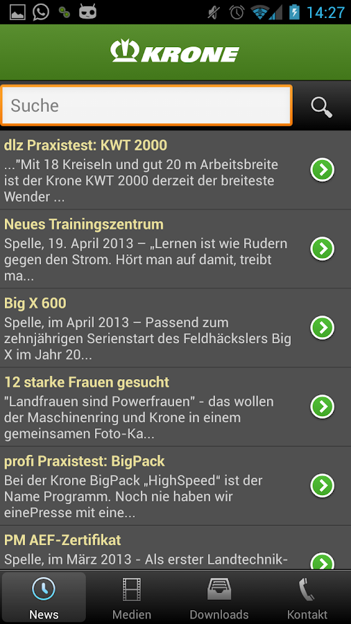 Krone Mediathek- screenshot