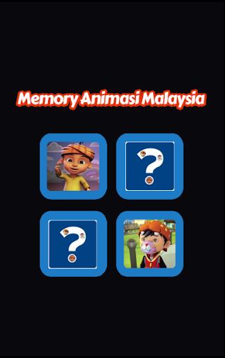 Memory Game Animasi Malaysia