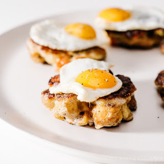 Crispy Stuffing Cakes with Quail Eggs