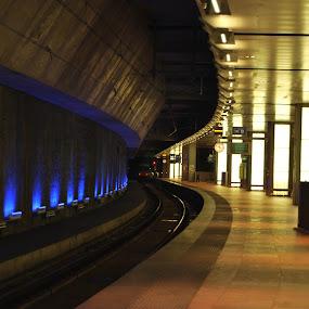 by Danny Vandeputte - Transportation Railway Tracks