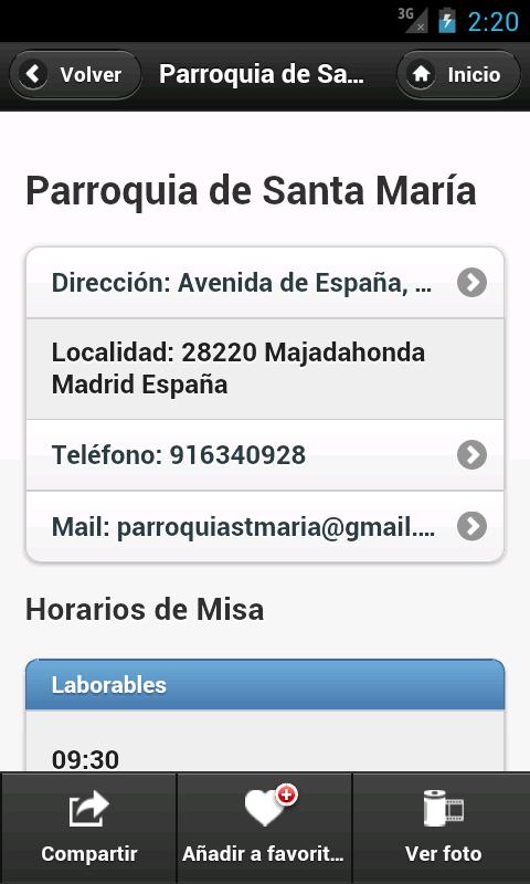 Misas.org- screenshot