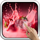 Magic Touch: Strawberries And Cream Live Wallpaper icon