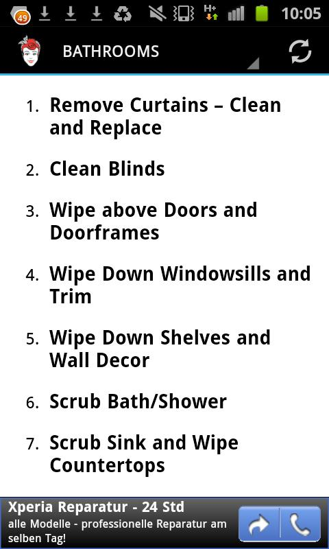 Spring Cleaning Checklist  Android Apps On Google Play
