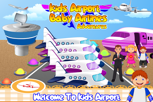 Kids Airport Baby Airlines